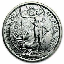 1oz 2015 Great Britain Britannia Silver Bullion Coin Investment 99.9 In Capsule