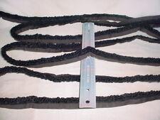 20-3/4Y D'KEI C1541 JET BLACK BOUCLE LOOP CORD UPHOLSTERY TRIM