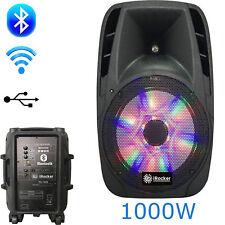 Portable Loud Speaker 1000W RCA Bass Stereo Sound System USB Bluetooth Wireless