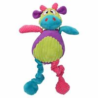 """Multi Coloured Cow Dog Toy With Squeak 44cm/17"""""""