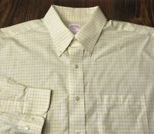 BROOKS BROTHERS Non Iron Cotton Shirt Mens 16 34/35 Yellow
