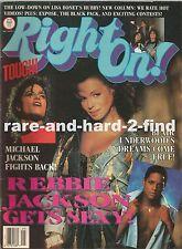 RIGHT ON May 1988 REBBIE JACKSON Rare Vintage USA Celebrity Magazine