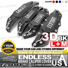 "Metal 3D ENDLESS Universal Style Brake Caliper Cover 4pcs Black 10.5"" LW03"