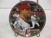 """Record Breakers Limited Edition Collectible Plate """"Mark McGwire"""" Home Run Hero"""
