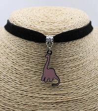 Dinosaur Diplodocus Oil Painted Pendant Cocktail Choker Collar Bib Necklace #01