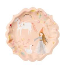 Meri Meri Princess Unicorn Birthday Party Paper Plates, Large x8