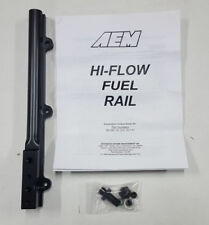 AEM Black High Volume Hi Flow Fuel Rail Kit Civic Si 99-00 Del Sol 94-97 Vtec