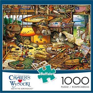 Buffalo Games 1000pc Jigsaw Puzzle Charles Wysocki Max In The Adirondacks