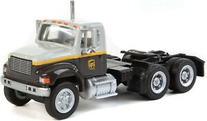 HO Scale Walthers Scene Master 949-11186 UPS Freight Dual Axle Semi Tractor