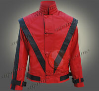 MICHAEL JACKSON THRILLER STYLISH MEN'S LEATHER JACKET IN TWO EXCLUSIVE COLORS