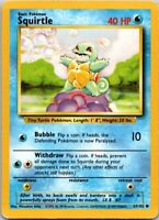 1999 Basic Pokemon Squirtle #7 Common Rarity Water 63/102 40 HP Single Card