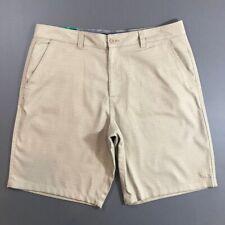 O'Neill Mens NWT Khaki Patterned Chino Shorts, 38 NWT, NEW