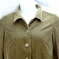 Women's Jacket J Jill Small (measures more like Large 14) Brown Corduroy Velvet