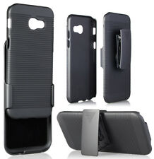 BLACK HARD CASE COVER + BELT CLIP HOLSTER FOR SAMSUNG GALAXY A5 (2017) SM-A520F