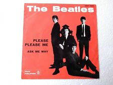 """7"""" THE BEATLES PLEASE PLEASE ME ASK ME WHY QMSP 16346 BLUE LABEL PERFETTO"""
