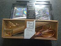 Klasse Rose Gold Gift Set Scissors Embroidery Rainbow Silver Dressmaking & Pouch