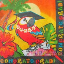 GRADUATION Grad in Paradise LUNCH NAPKINS (16) ~ Party Supplies Dinner Large