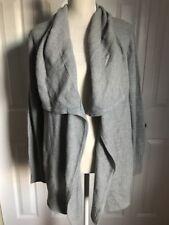 NEW 89th & Madison Women's Long Sleeve Sweater Duster No Closure Grey sz Medium