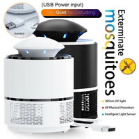 Home Electric USB Mosquito Killer Lamp Pest Repeller Zapper Insect Trap Light HQ