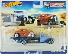 Hot Wheels Team Transport 32 Ford Hot Rod with Speed Waze truck