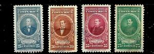 HICK GIRL- USED COSTA RICA STAMPS   SC#C124-27  1946  PORTRAIT ISSUES     D755
