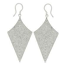 7.78 Ctw White Topaz Gemstone 925 Sterling Silver Drop & Dangle Women Earring