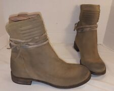 ANTHROPOLOGIE FREE PEOPLE TAUPE SUEDE CAMBRIDGE WRAP ANKLE BOOTS US 9 EUR 39
