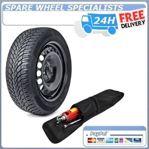 "15"" FULL SIZE STEEL SPARE WHEEL &TOOLS 185/60R15 TYRE FITS SKODA FABIA 2007-2019"