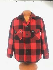 * Bemidji Woolen Mills * Vintage Plaid Red & Black Jacket Coat Men's Size 42 L