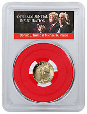 2017-W 1/10 oz. Gold Eagle $5 PCGS PR70 DCAM FS Red Gasket Trump/Pence SKU46074