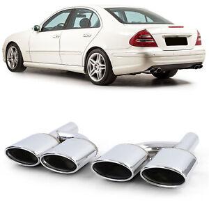 Auspuff Endrohr Blende Edelstahl für Mercedes W204 W211 W212 W164 W166 W221 R230