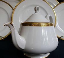 ROYAL ALBERT GREEK KEY (c.1960+) TEA POT (5 CUPPER)- RARE!! EXCELLENT!! GILT!!