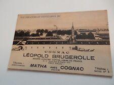 VINTAGE POSTCARD COGNAC LEOPOLD BRUGEROLLE  DISTILLERY MATHA