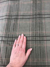 "Green Plaid Drapery Upholstery Fabric by Eisnehart Arnold Palmer ""Prince"" 1999"