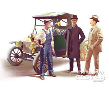 ICM Team Ford Model T 1913 ROADSTAR CAR con 3 figure KIT 1:24 KIT 24007
