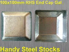 Galvanised Steel Tube Square Post End Caps For 100x100mm for Fencing GAL Posts