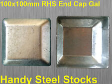 Galvanised Steel Tube Square Post End Cap For 100x100mm for Fencing GAL Posts