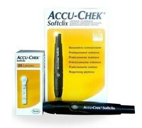 Accu-chek Softclix Lancing Device, Sugar Diabetic Kit Aid + 25 Lancets, German