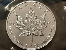 Canada 1995 1 Oz. Silver Maple Leaf Coin  - RCM Thermotron Sealed Bullion Melt
