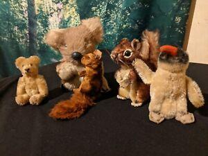 Vintage Steiff Germany Lot of 5 Teddy Bear Squirrel Koala Penguin Collection HTF
