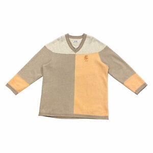 Escada Sport V Neck Jumper   Vintage Luxury Designer Grey Sweatshirt VTG