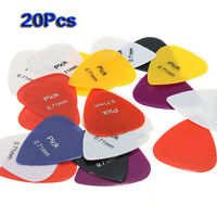 20pcs 0.71mm Smooth Nylon Medium Electric/Acoustic Guitar Picks AD