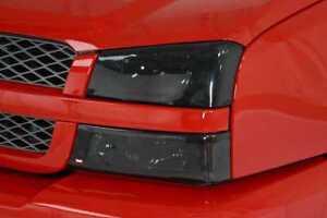 Chevy Silverado 2003 - 2006 Headlight Covers Smoke Finish