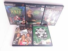 5 PS2 Poker & Casino Games World Series Championship Poker High Rollers & More!
