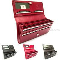 Ladies Purse Real Leather Soft Red Pink Black Brown Visconti New in Giftbox HT35
