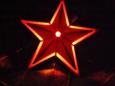 Christmas Tree Topper Steel Star 3D Metal Vintage Noma Light Up Illuminated 1950