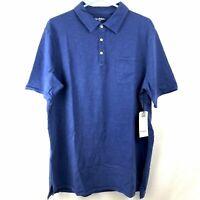Goodfellow & Co Blue Polo Shirt Mens Size 2XB Tall Big & Tall Short Sleeves NWT