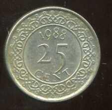 SURINAME  25 cents 1988  ( bis )