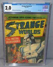 STRANGE WORLDS #8 (Robot Cover) CGC 2.0 GD Avon Comics 1952 Pre-Code Horror