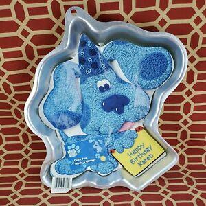 Blues Clues Blue Wilton Cake Pan 2105-3060 Puppy Dog Birthday Party Vintage 1999